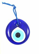 Blue Glass Evil Eye Hamsa Protection Amulet Luck Wall Hanging Decorations 1.5""