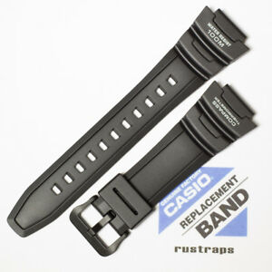 CASIO black rubber watch band for SGW-500H, 10431875