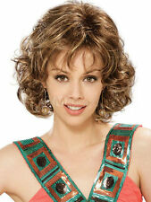 New fashion sexy ladies short Brown Blonde Curly Wigs + Free wig cap