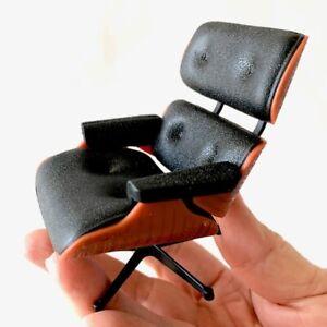 Miniature LoungeChair BLACK. Mid-Century Designer Chairs-One Chair, no ottoman