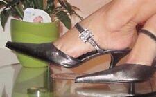 APART Impressions   Mules  Pumps  High Heels  Seide  -Spitz- Größe 38  Metallic