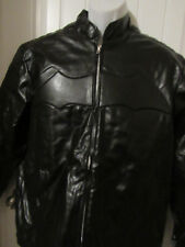GENUINE LEATHER MEN'S BATMAN MOTORBIKE QUILTED JACKET MEN'S SIZE M