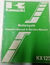 OEM Kawasaki 1986 KX125 E1 Owners & Service Manual 99920-1324-01
