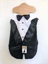 """NICOLE MILLER HOME Tuxedo Vest for Dogs Size XL(Back Length 21 to 24"""")"""