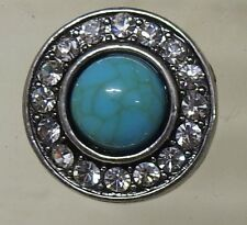 Celtic pattern 8 with Turquoise centre stone Noosa Style Snap Button