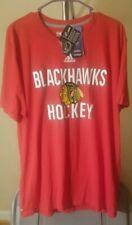 Chicago Blackhawks NHL Adidas Red Blackhawks Hockey XL T-Shirt