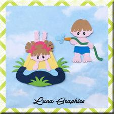 SLIPPERY SLIDE KIDS GIRL  Embellishments Paper Piecing Card Making Scrapbooking