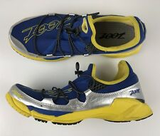 Zoot Ultra Race 3.0 Blue Yellow Silver Light Athletic Shoes Size 9