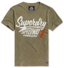Superdry Men's Dash Green Premium Racing Equipment Logo Graphic Print T-Shirt