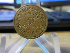 Weir City Kansas  / Bovard & Dickson GF 5¢ In Mdse. Token Brass 20 mm