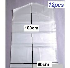 12x Garment Protection Covers Dry Cleaning Bags Clothes Storage 60cmx160cm New