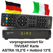TIVUSAT Sat-Receiver für HD TV Neue Karten Golden Interstar Astra Hotbird Italia
