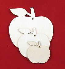 **TEACHER** Carved Wooden Craft Shape /'Thank You For Helping Me Grow/' Apple.