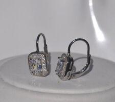Echt 925 Sterling Silber Ohrringe Ohrhänger Zirkonia crystal  Nr 70B