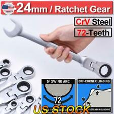 US Combination Ratchet Gear Flexible Head Ratcheting Wrench Spanners Tools