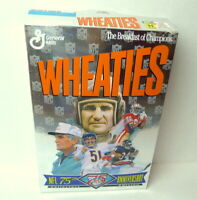 NFL 75th Anniversary Baugh Butkus Payton Rice Shula 1994 Wheaties Cereal Box