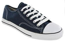 Lona Corte Bajo Zapatillas Deportivas De Cordones Para Dama Zapatos Plimsolls