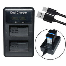 Dual USB Battery Charger for Sony NP-FW50 TRW &ILCE-7M2 ILCE-7S Alpha 7 II a7 II