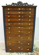 """Cherokee Phoenix"" Newspaper Flat File/Type Cabinet; 10 Drawers; 19th Century"