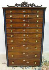 """Cherokee Phoenix"" Newspaper Flat File/Type Cabinet; 10 Drawers; 19th Century"