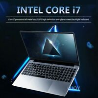 Intel i7 Laptop Max Support 16GB 512GB 1TB Metal 1080P Win10 Gaming PC Computer