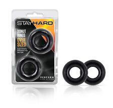 Elastomer Donut Stay Hard C Rings Oversized Black