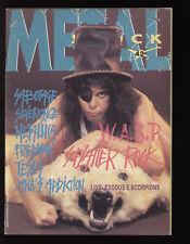 METAL SHOCK 42/1989 W.A.S.P. ELLEN REID FELINE MELINDA SABOTAGE VIXEN METALLICA