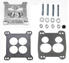 Carb Carburetor Adapter 4bbl Quadrajet Manifold to Holley Edelbrock Carter Demon