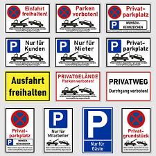 Parkverbot Parken verboten Parkplatz Schilder Parkverbotsschild 60 Varianten ?