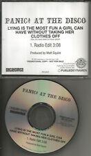 PANIC AT THE DISCO Lying Is Most Fun A Girl w/RARE RADIO EDIT PROMO DJ CD single