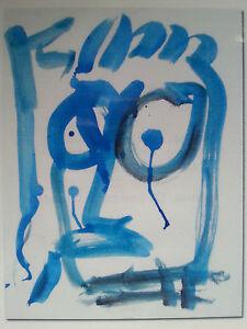 PAUL KOSTABI - olio su carta telata - autentica su foto