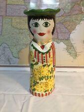"New listing Bella Casa By Ganz Ceramic ""Daisy"" Vase by Susan Paley 10.5"""
