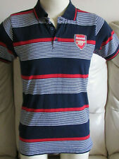 Arsenal FC Striped Polo Shirt - Small