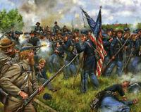 Mark Maritato Signed Civil War Limited Art Print Sergeant ben Crippen Gettysburg