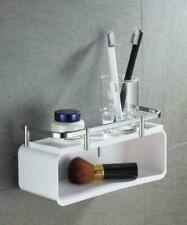 Bath Punch Free Chrome white Brass ABS Shower Caddy Wire Basket Storage Shelf