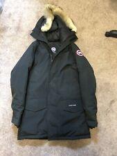 Canada Goose Langford Parka with Fur Hood Coat Medium Black