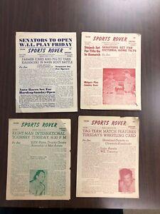 wrestling, (4) Sports rover programs, 1951 from Oregon- Gorky, Farmer Jones,+++