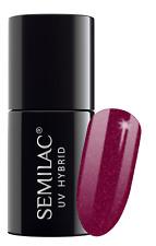Semilac UV LED Hybrid Nail Polish 7ml - Choose Your Shade From 60th to 107th 098 Elegant Cherry