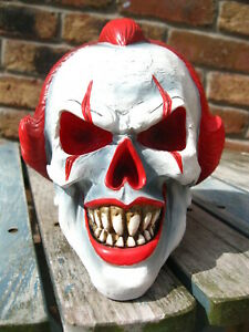 PENNYWISE CLOWN SKULL HEAD FIGURE Ornament IT Play Time GOTHIC HORROR GOTH PUNK