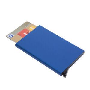 New SECRID Aluminum Slim Credit Cards Protector Holder Wallet Color Blue