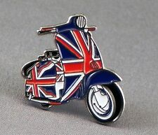 Metallo Smalto Spilla Badge Spilla Scooter Union Jack Grande Gritain Regno Unito