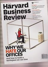 HARVARD BUSINESS REVIEW MAGAZINE OCT 2014, WHY WE HATE OUR OFFICES.