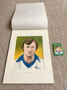 1978 Original Artwork Dave Langan of Derby County FC as used by Cornish Match Co