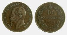 s277_28) VITTORIO EMANUELE II (1861-1878) 10 Centesimi 1866 H