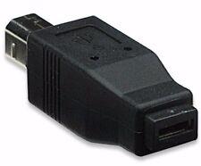 USB 2 tipo B macho a hembra impresora Micro Tipo AB Adaptador Convertidor de PC, HK-MUS5