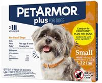 PetArmor Plus Flea & Tick Treatment for Small Dogs (5-22lb) Sealed,3 Counts