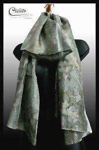 Eco-Printed Silk Scarf, Hand Made Australia, Eco-Dyeing, Hand Dyed, 100% Silk