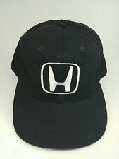 Honda Hat Cap Black Strapback H Logo CapAmerica Made in USA