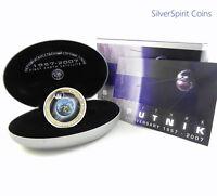 2007 SPUTNIK ANNIVERSARY Silver 1oz Coloured Silver Coin