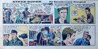 Steve Roper & Mike Nomad by Overgard - color Sunday comic page - June 25, 1967